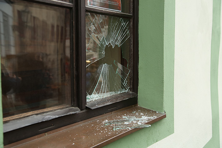 A2B Glass are able to board up broken windows while they are being repaired in Blackheath.